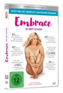 """DVD-Cover von """"Embrace - du bist schön"""" dem Dokumentationsfilm der Australiern Taryn Brumfitt"""