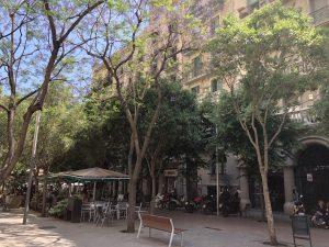 Straße Enrique Granados in Barcelona